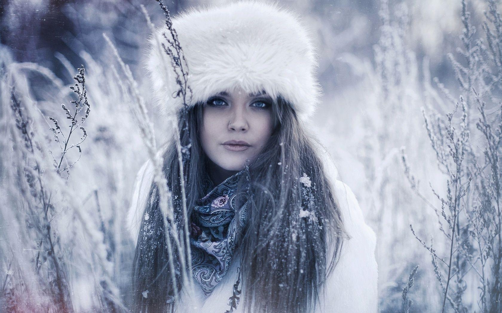 Картинки девушки в образе зимы