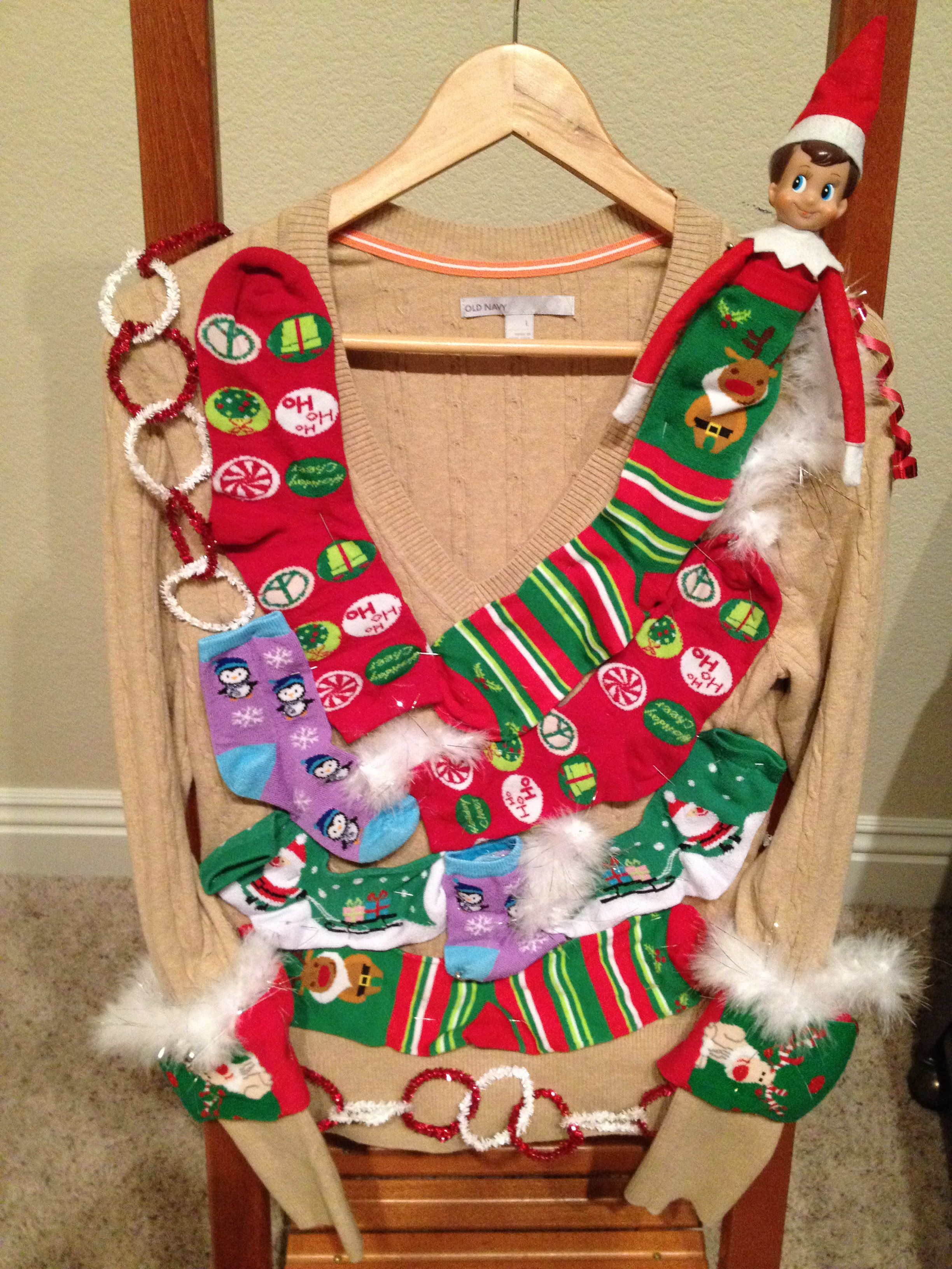 Murphy the elf on the shelf He loves his ugly sweater