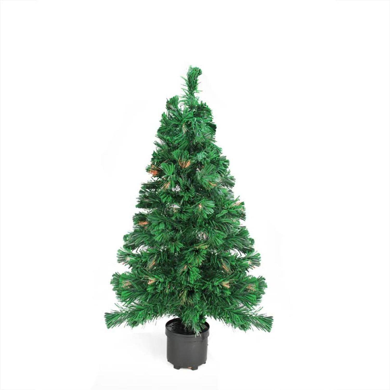3\' Pre-Lit Color Changing Fiber Optic Artificial Christmas Tree ...