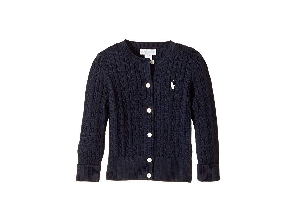 aa3ec98859fb Ralph Lauren Baby Mini Cable Sweater (Infant) (Hunter Navy French ...