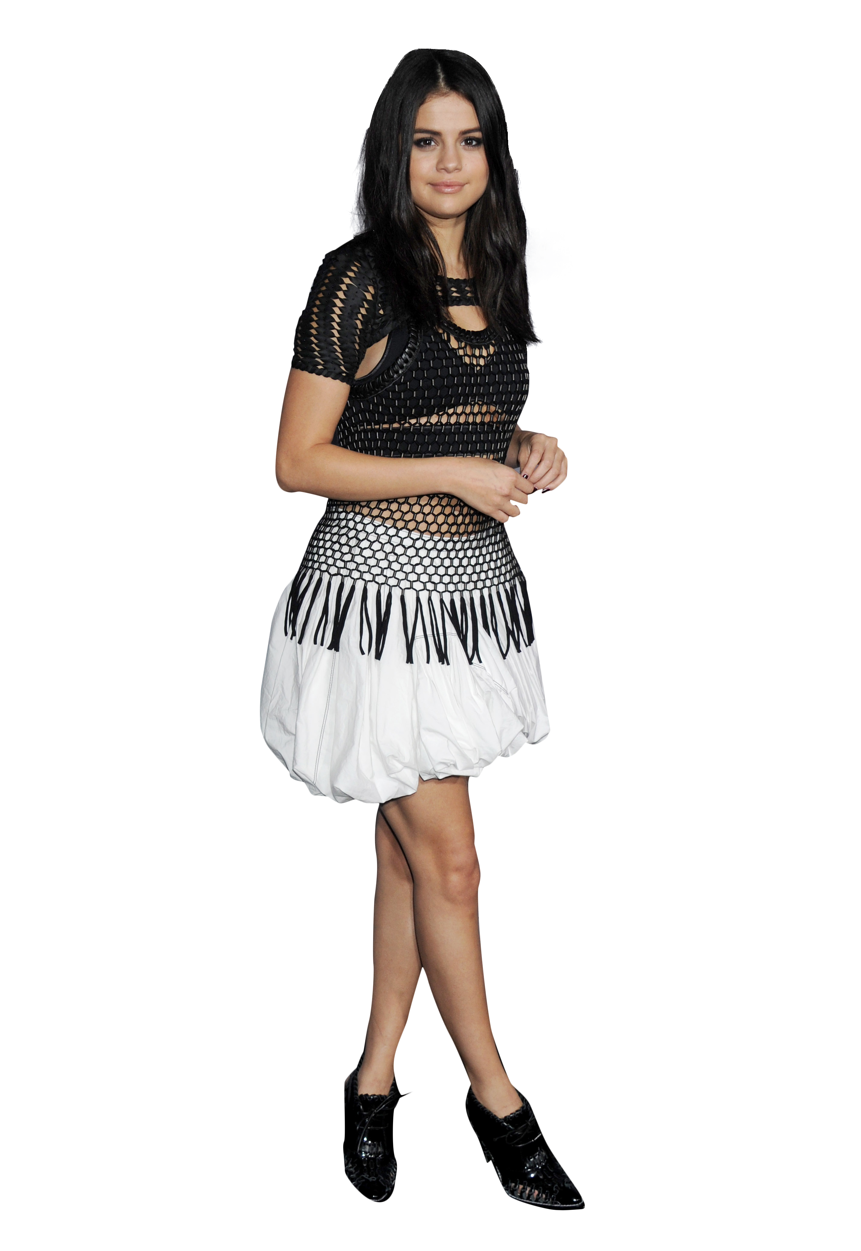 Selena Gomez White Dress PNG Image Selena gomez white