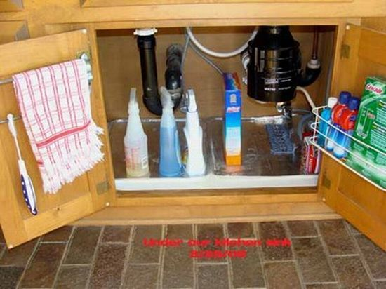under kitchen sink | Kitchen organization | Pinterest | Space ...