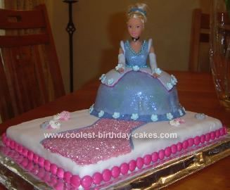 Cute Homemade Cinderella Cake for a 4 Year Old Homemade Birthdays