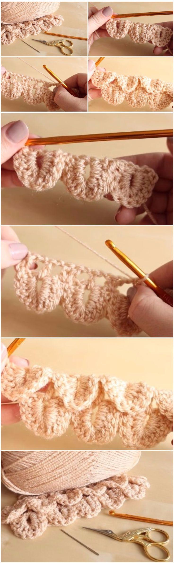Crochet Crocodile Stitch Step By Step - #Crochet #Crocodile #step #Stitch #stitching