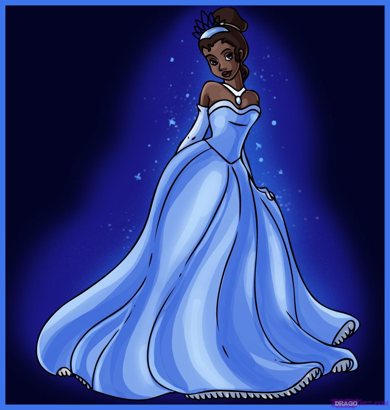Princess Tiana Face: How To Draw Princess Tiana From The Princess And The Frog