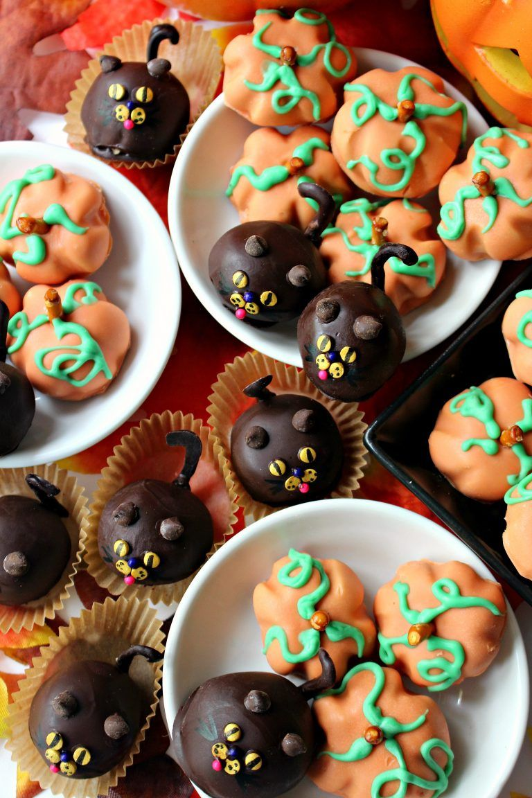 Peanut Butter Ball Pumpkins and Cats Recipe Peanut