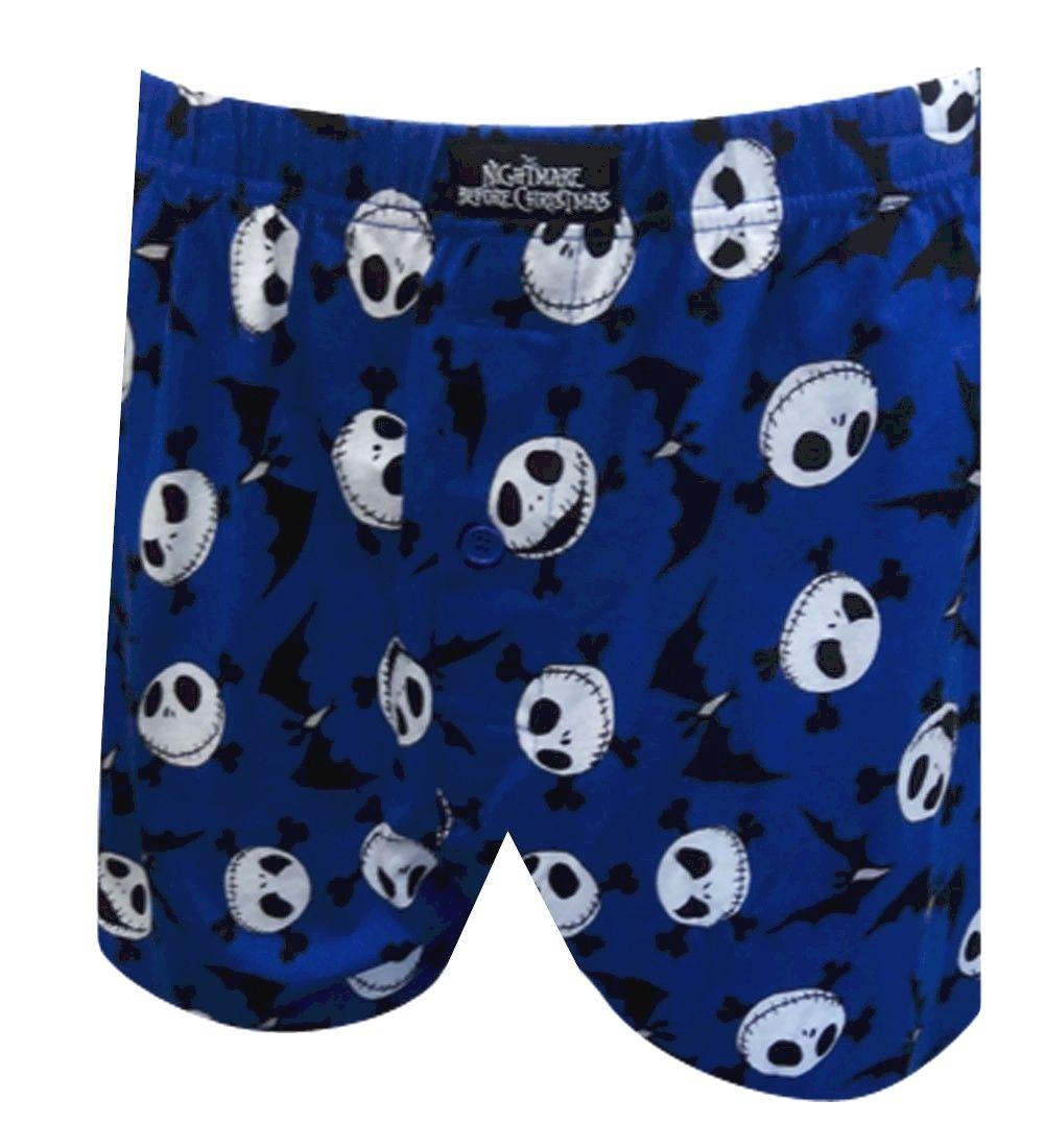 Jack Skellington Nightmare Before Christmas Blue Boxer Shorts Creepy ...