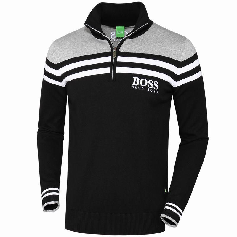 aeea83886 Replica Hugo Boss Men Cultivating Long-Sleeved Polo Man Sweater Mens  Pullovers