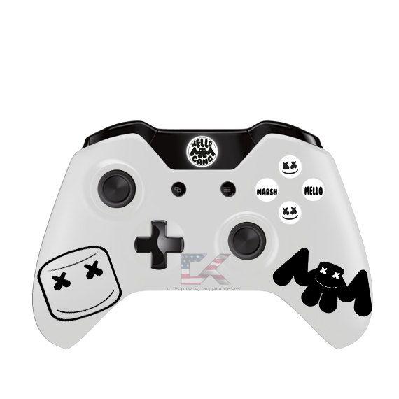 Marshmello Xbox one-controller van CustomKontrollers op Etsy