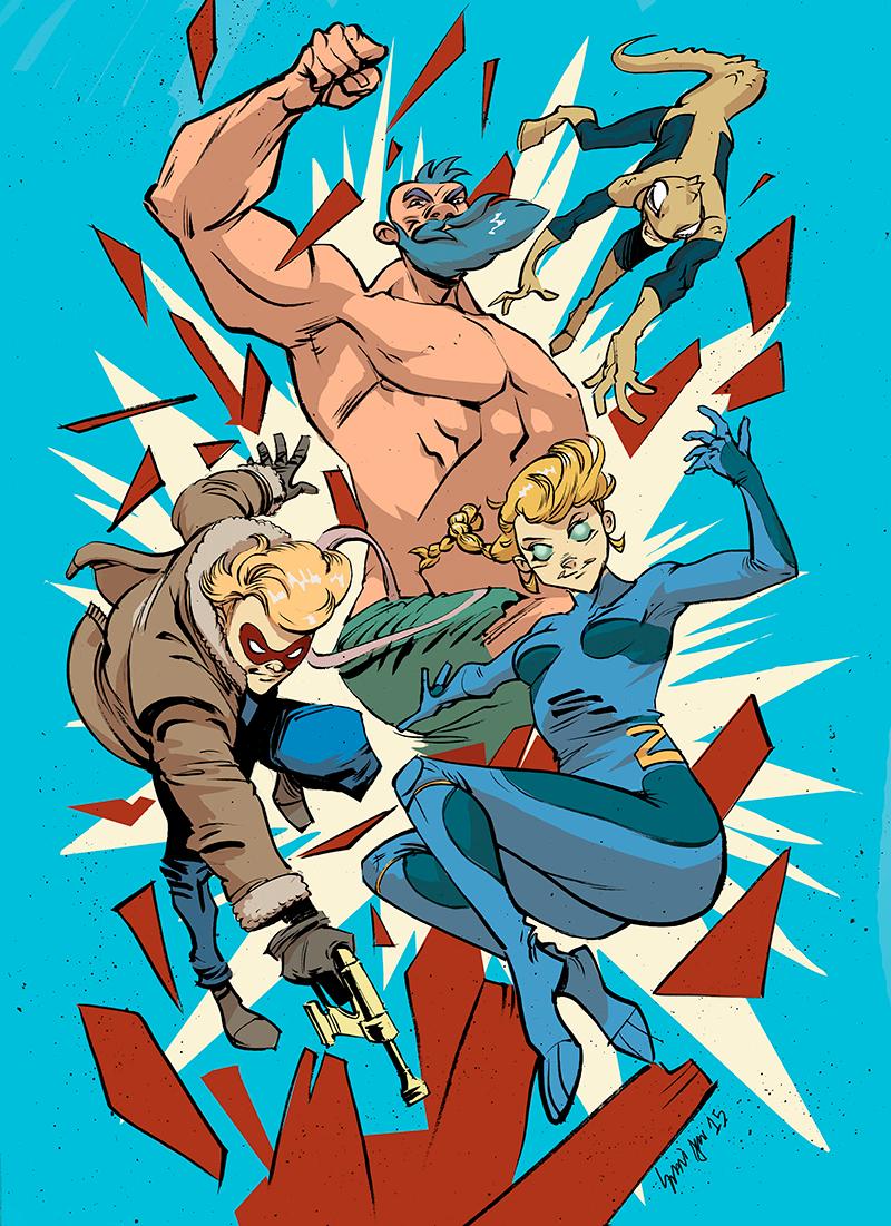 Arjuna Susina per ZEROI (Tuono Pettinato, Matteo Casali e Cinci) #character #comics #superhero #crowdfunding