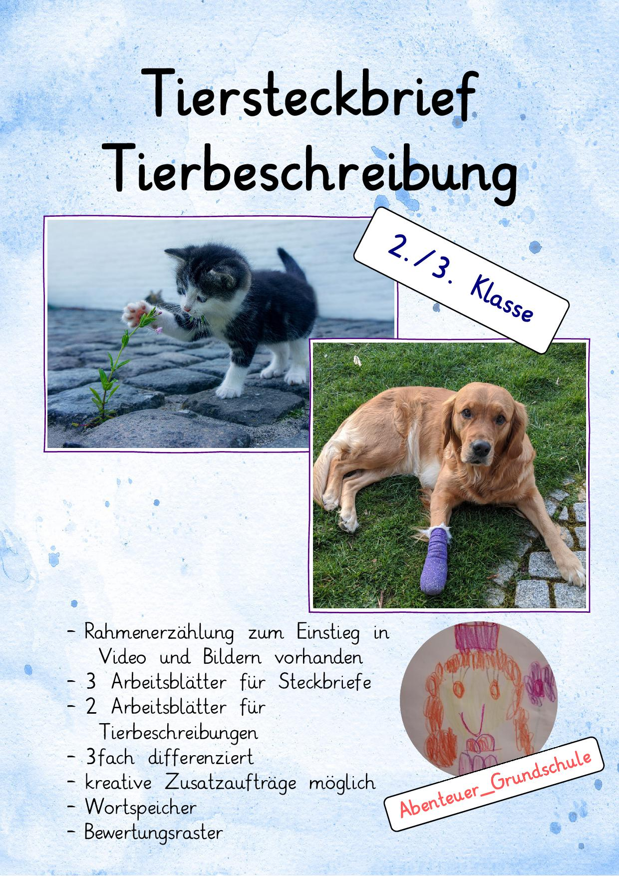 Tierbeschreibung Klasse 20 Arbeitsblätter