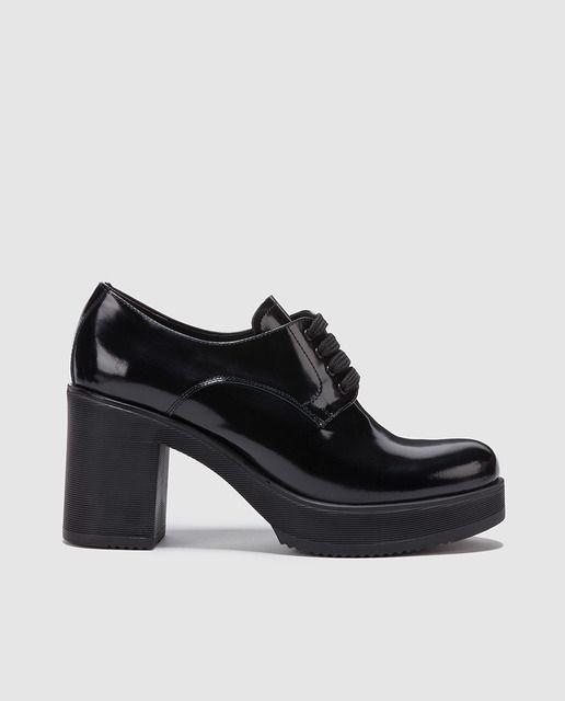 Gloria Negros Mujer PielWomen Bluchers Ortiz En Footwear De odBQtCxshr