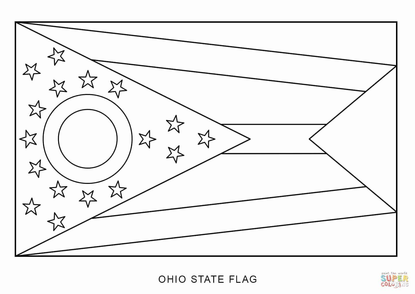 Pa State Flag Coloring Page In 2020 Ohio State Flag Coloring Pages