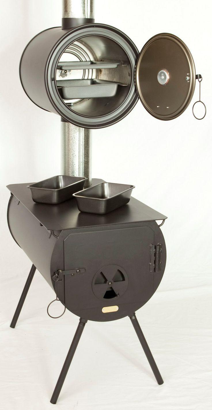 Portable Outdoor Oven Stove Camp Wood Stove With Oven Sobalar Kamp Ekipmanlari Ev Icin