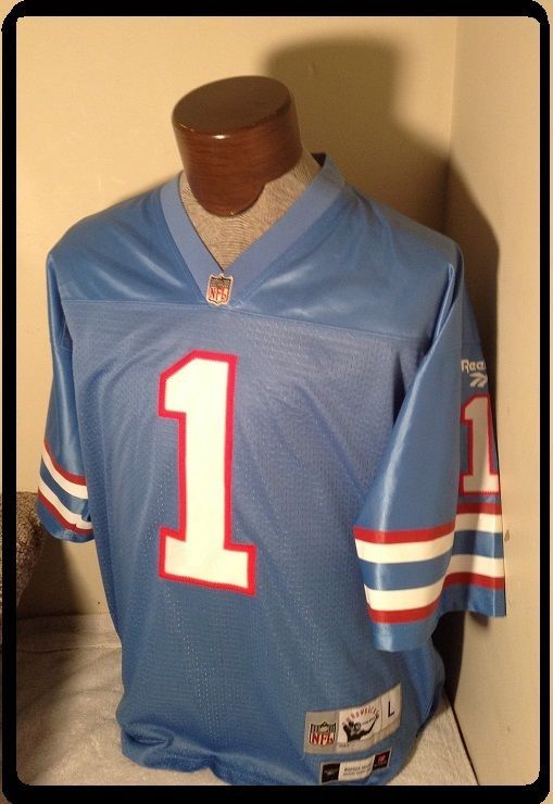 EUC+ Large WARREN MOON Jersey REEBOK Gridiron Classics Throwbacks Houston  Oilers  Reebok  HoustonOilers ebba0d4bd