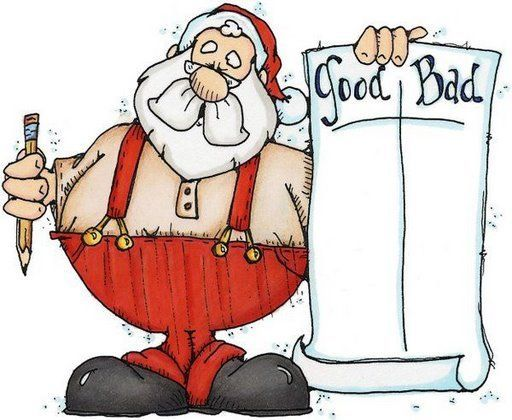Image result for christmas good and bad list
