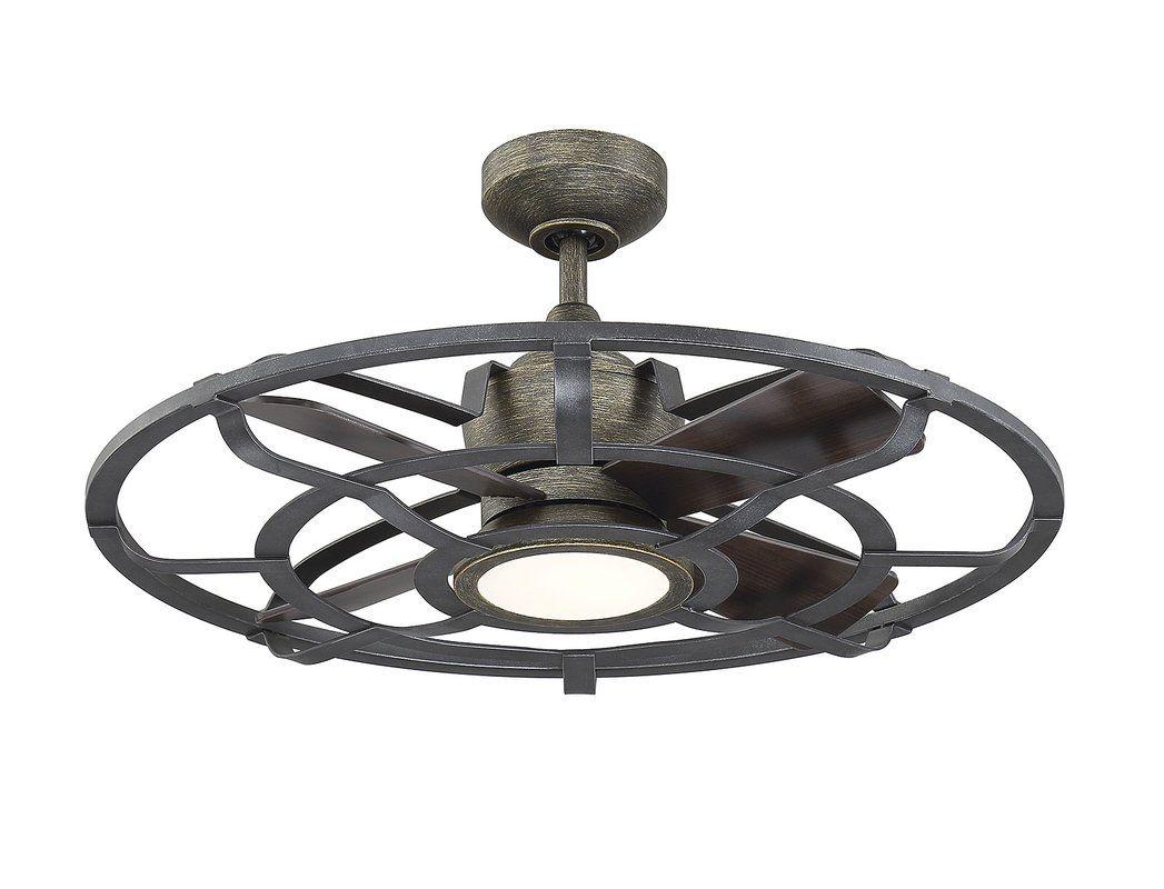 22 Gutirrez D Lier 4 Blade Led Ceiling Fan With Remote Ceiling