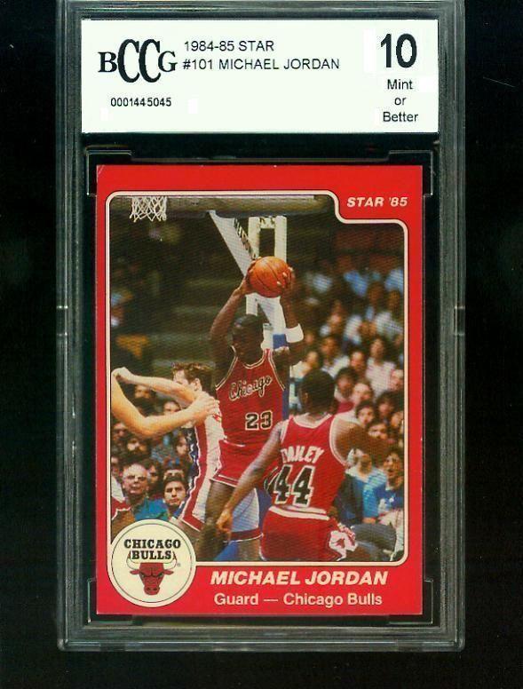 1984 85 Michael Jordan Star Rookie Card Bccg Graded 10 In