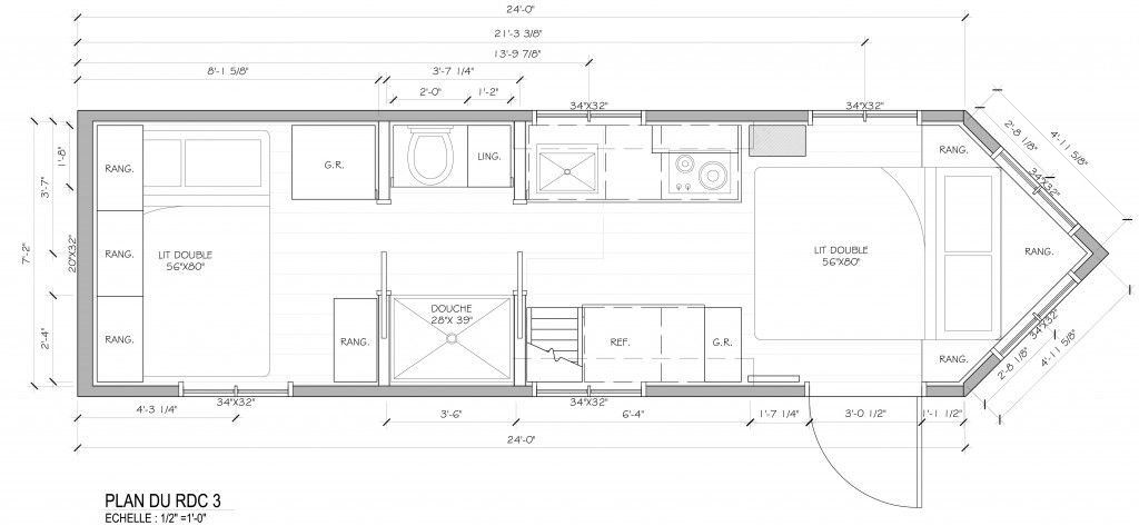 Plan Du Rdc Tiny House On Wheels House On Wheels