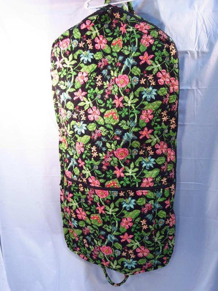 Vera Bradley Botanica Black Pink Floral Garment Bag - NWT    VeraBradley f5ec603679cd7