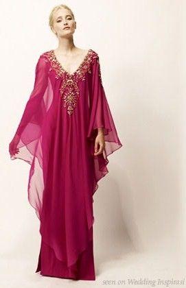 15000d4122775 pink gown raspberry kaftan evening gown marchesa evening kaftan ...