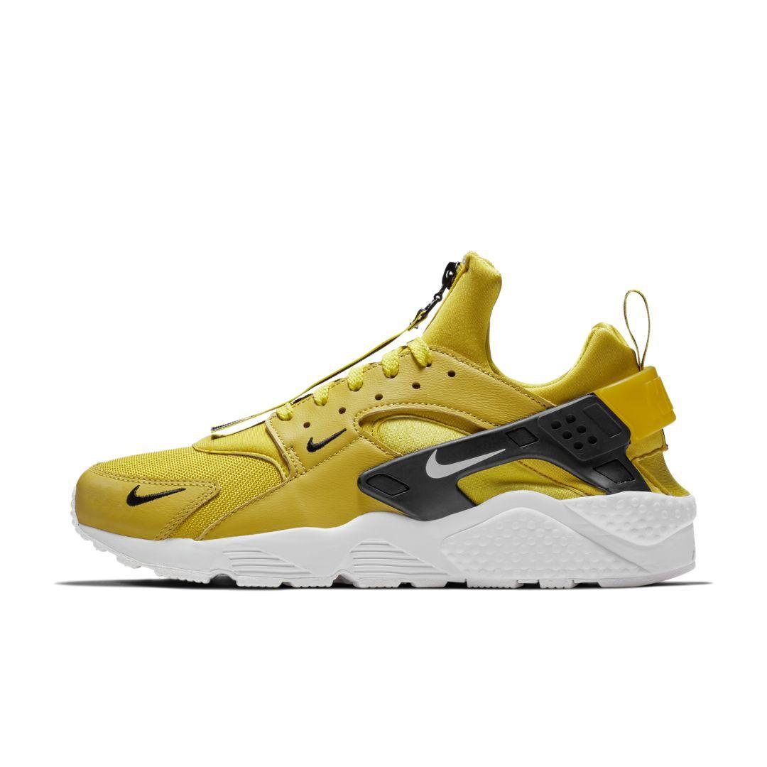 58c779be20f22 ... get nike air huarache run premium zip mens shoe size 11.5 bright citron  1b9b2 ffd2d