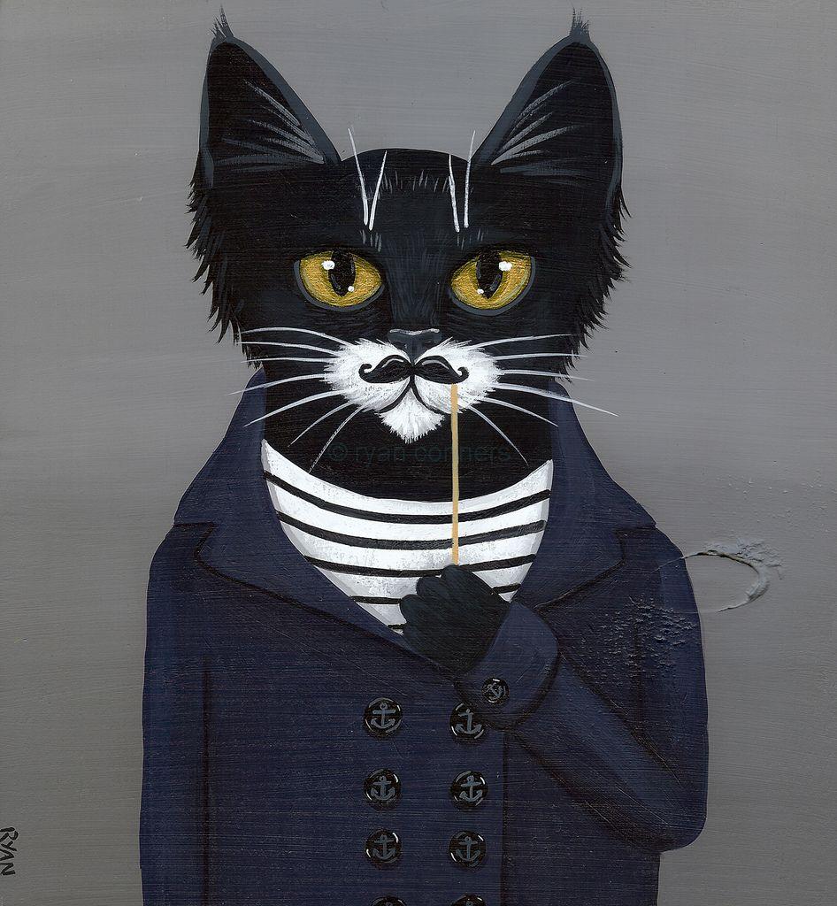 Коты в пиджаке арт