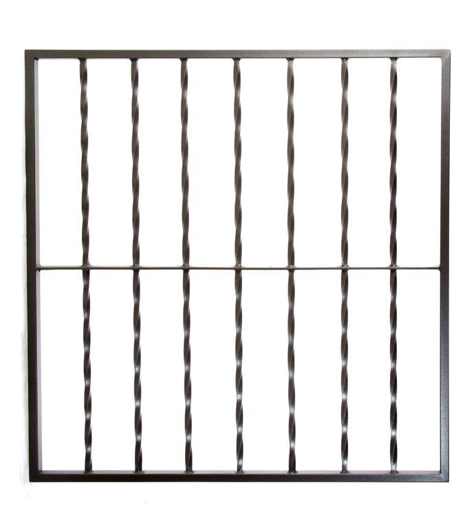 Reja de hierro de seguridad para ventanas modelo retorcido rejas - Rejas hierro forjado ...