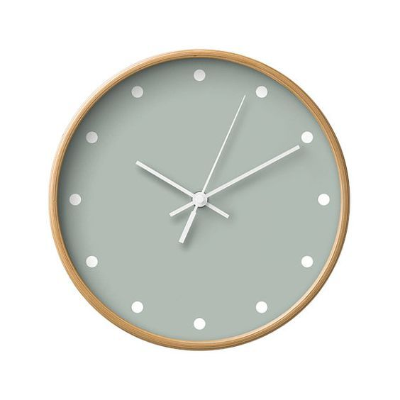 Dots Wall Clock, 5 Neutral Colors Options, Decorative Wall Clock ...