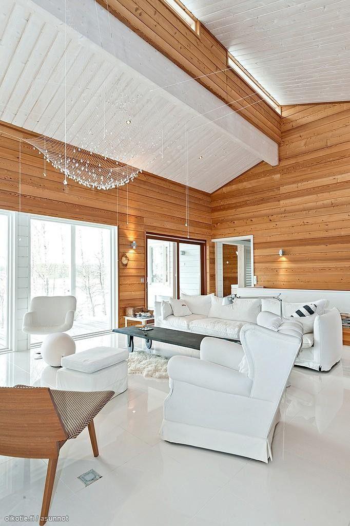 Myytävät asunnot, Kotilahdentie 29, Siuntio #oikotieasunnot #olohuone