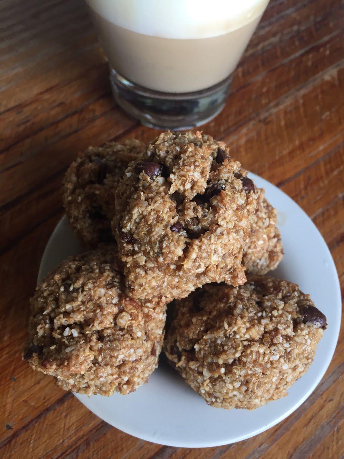 Coconut and quinoa cookie recipe Receta de galletas o galletitas de quinoa y coco