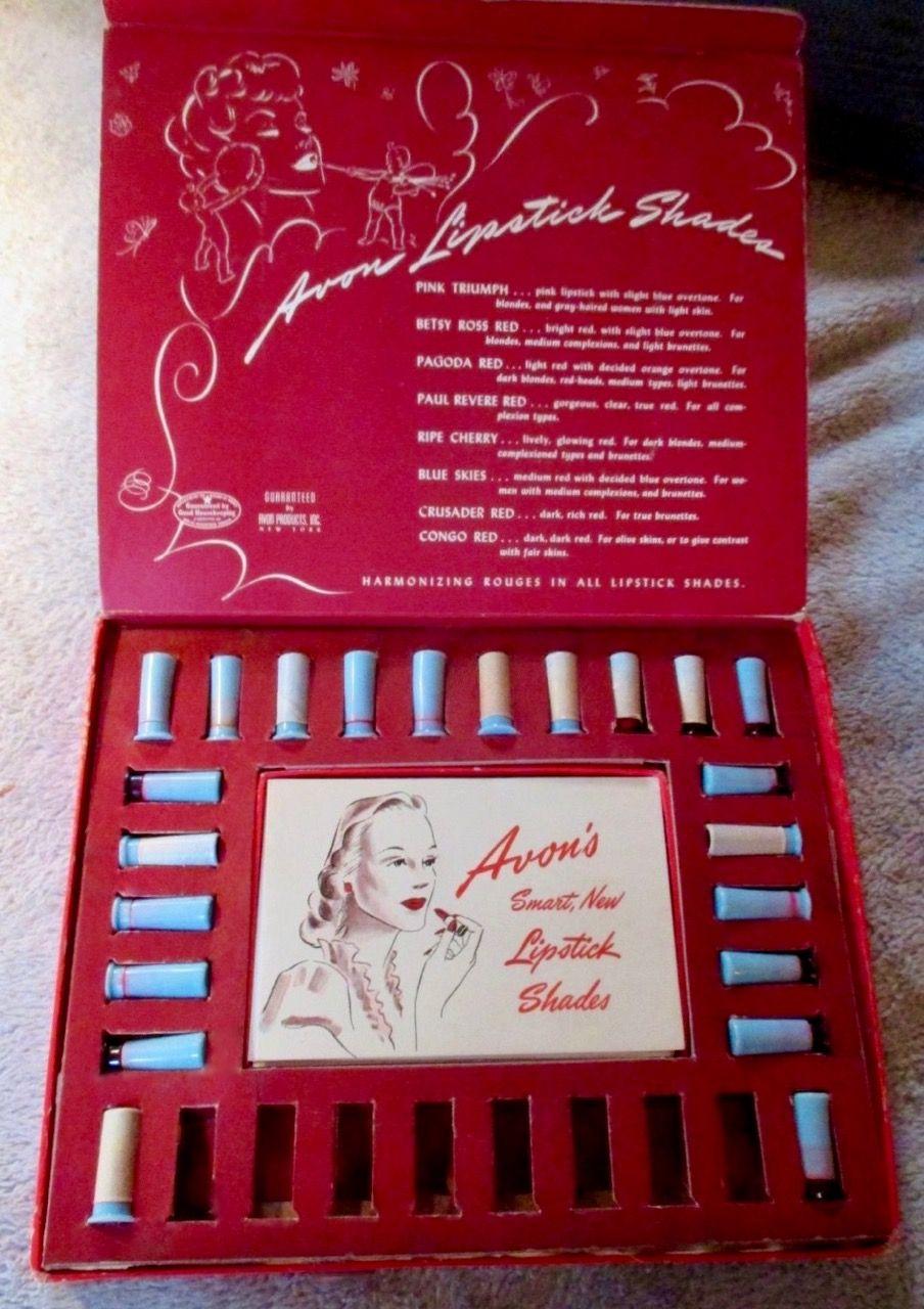 Avon Lipstick Sample Box Avon Lipstick Samples Avon Lipstick Vintage Cosmetics