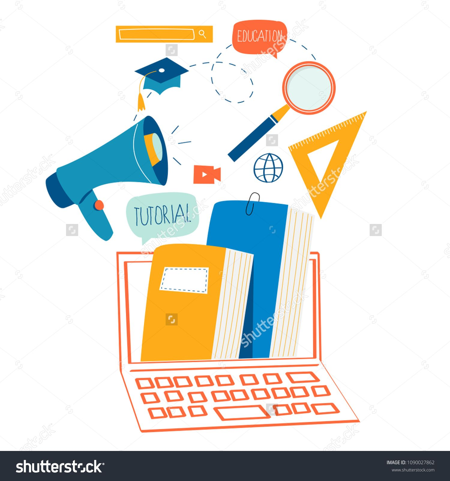 Education Online Training Courses Distance Education Flat Vector Illustration Internet Studying O In 2020 Online Training Courses Online Education Education Design