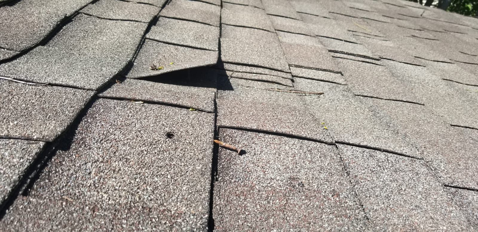 Does Your Roof Look Like This Popping Nails Can Make Your Roof Susceptible To Leaks And Other Damage Call 205 810 1 Leak Repair Roof Repair Roofing Services