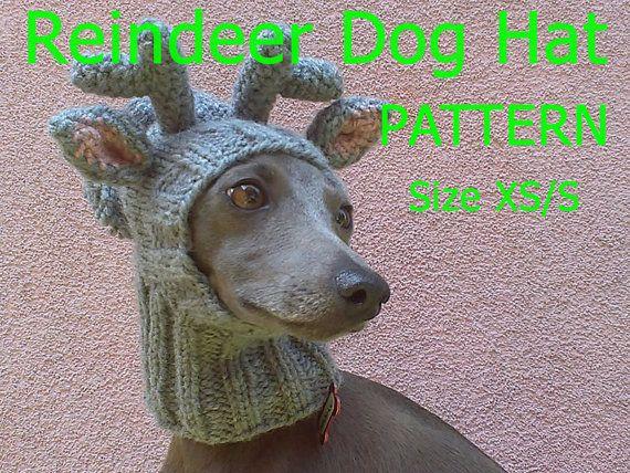 Download Knitting Pattern Reindeer Dog Hat Knitting Pattern Etsy Dog Hat Pattern Reindeer Dog Christmas Dog Hat