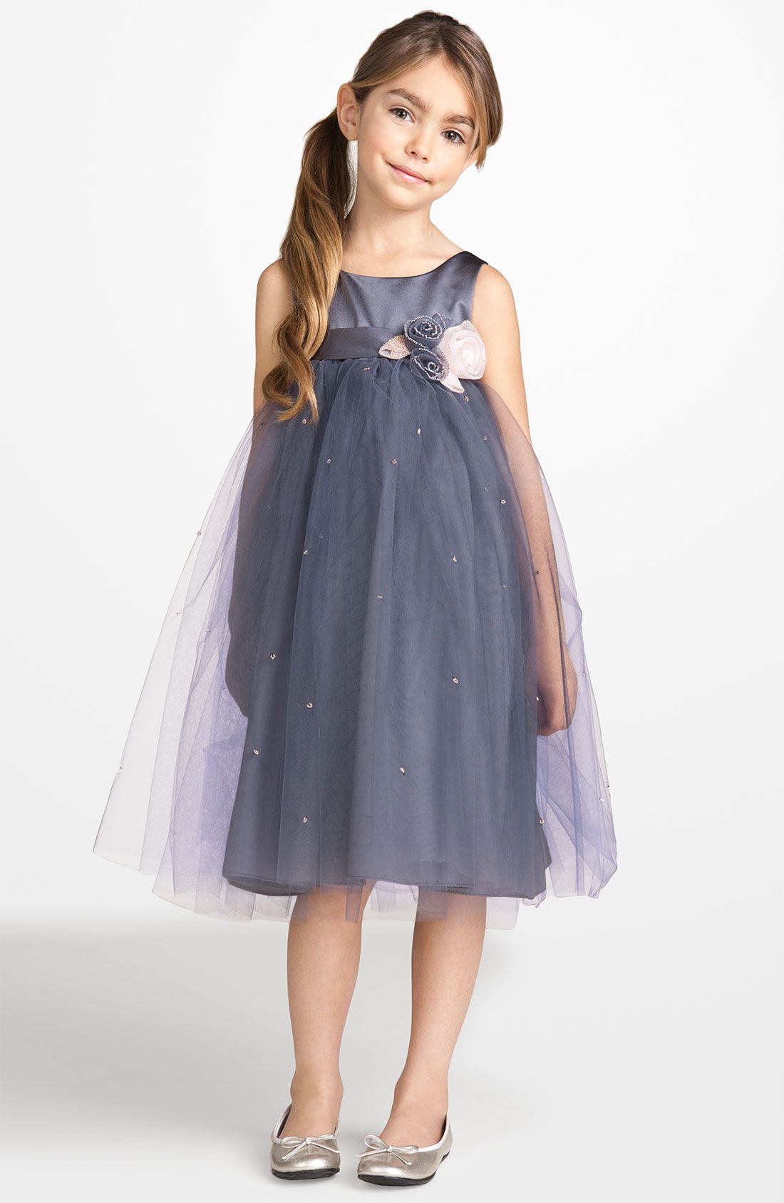 Big girl wedding dresses  US Angels dress  holiday  Little Girls Outfit  Pinterest  Satin