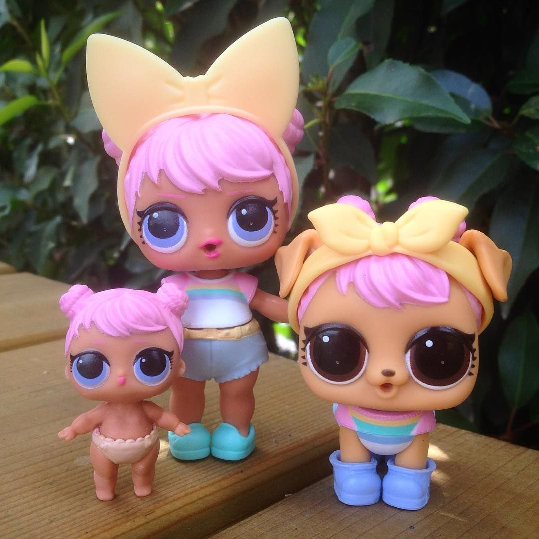 LOL Surprise Dolls Dawn /& Lil Dawn /& Dawn Pooch Pet Set Series 3 Confetti Pop