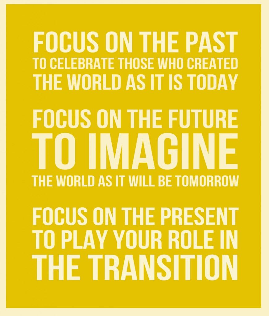 Focus On The Past Future And Present Quote Words That Inspire Us