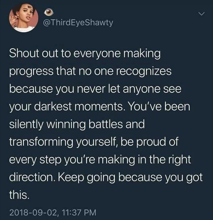 All progress is progress no matter who sees it