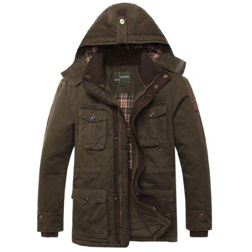 Wantdo Wool Classic Pea Coat Winter Coat
