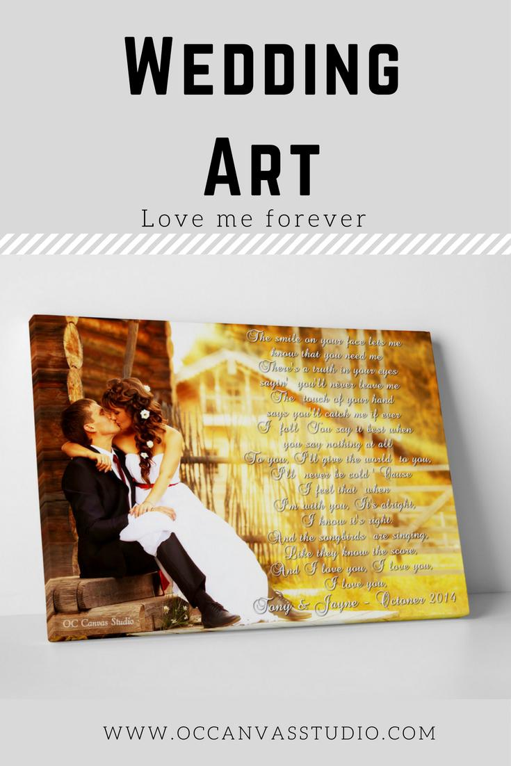 1st Anniversary gift , Wedding Vow Art, 5th Anniversary Gift, Framed ...