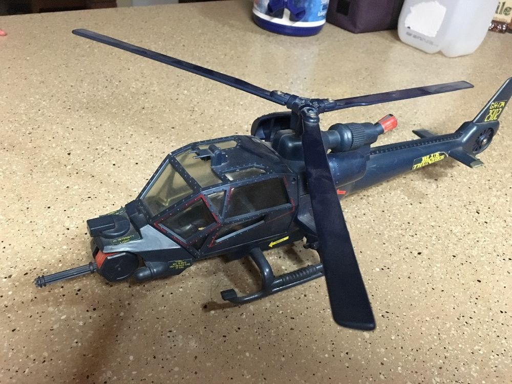 1983 Blue Thunder helicopter and pilot. All intact with moving parts.