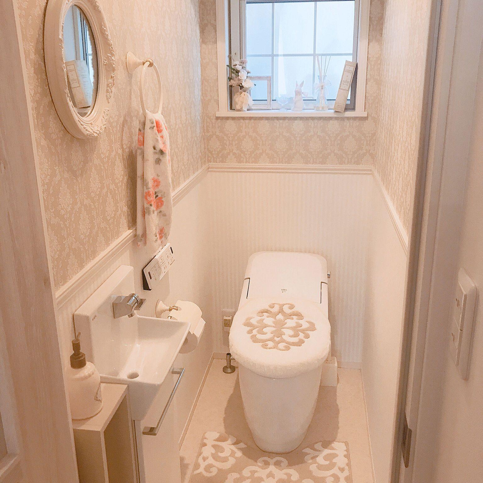 バス トイレ トイレ ディスプレイ お花のある暮らし フランフラン