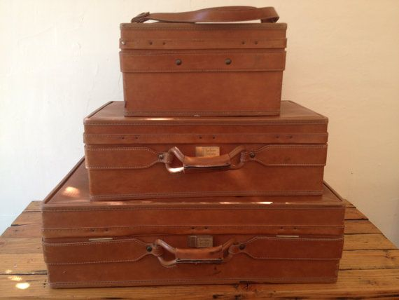 3 Piece Vintage Hartmann Luggage Set on Etsy, $245.00 | Put It ...