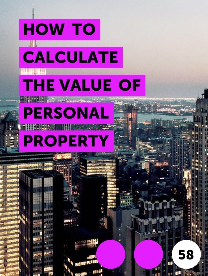 You can value your personal property at the current sales price of similar items or you can get a professional appraisal.