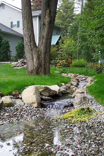 Superbe Man Made Backyard Stream Idea #1.