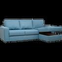 Canape D Angle Reversible Convertible En Tissu Bleu Figuerolles Alinea Couch Furniture Home Decor