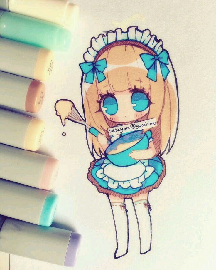 Cute Little Chibi Cooking | Chibis | Pinterest | Chibi Anime And Drawings