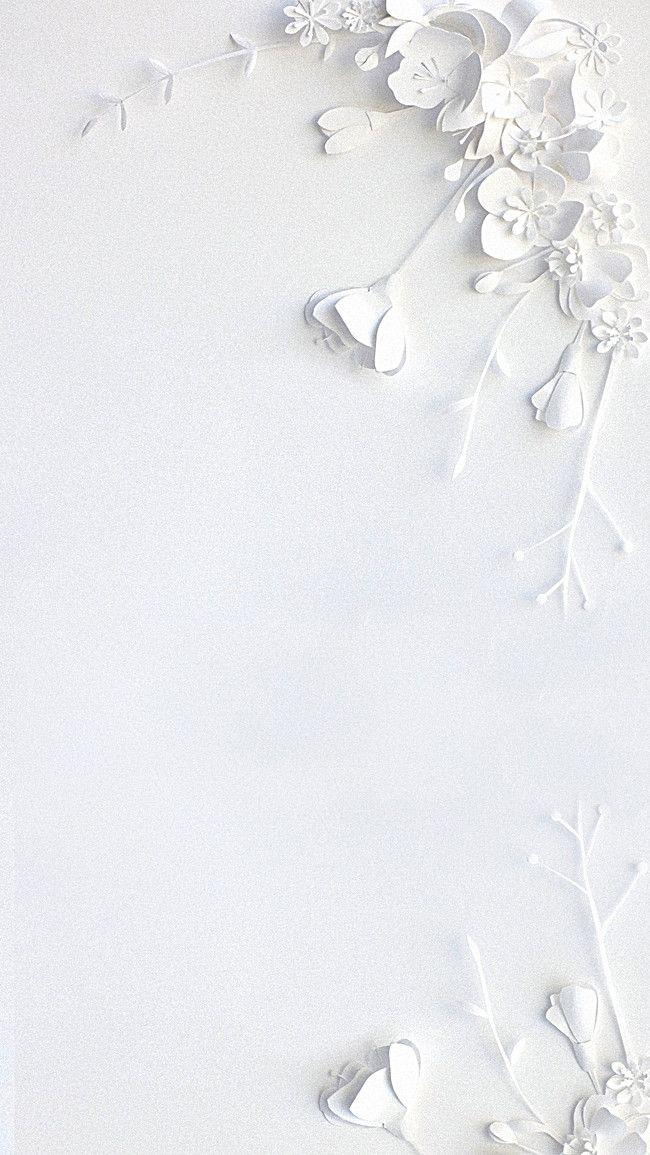 Transparent Clean Design Floral Background