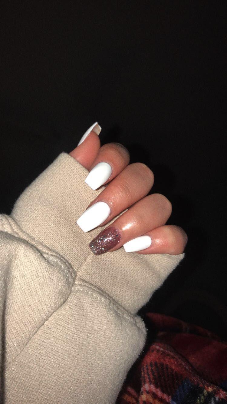 White Acrylic Nails Nails White Acrylic Nails Acrylic Nails